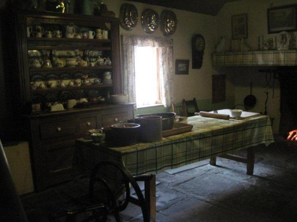 interior of irish cottage at Bunratty Folk Park